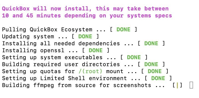 Geduld QuickBox - Erstellen Sie eine Seedbox mit Quickbox (Kimsufi, VPS ...)