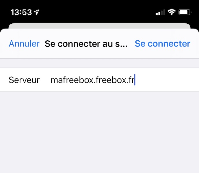 ipadOS ios server - Freebox - Greifen Sie mit einem iPhone oder iPad auf die Festplatte zu