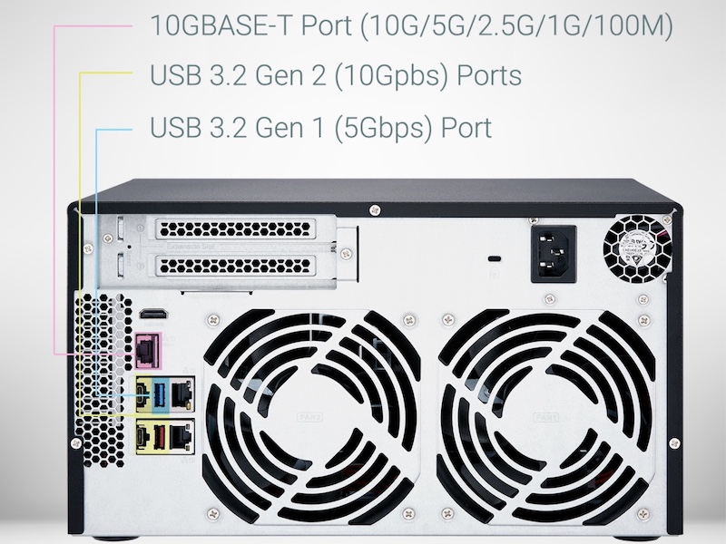 QNAP TVS x72X - QNAP TVS-672X und TVS-872X: Intel i3, 8 GB RAM, 10 GbE, HDMI 2.0, PCIe ...