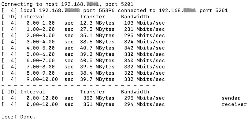 iperf WLAN-Test - iPerf und Synology Routerology