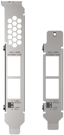 Halterungen QXG 10G2T X710 - QNAP QXG-10G2T-X710: Dual 10GbE Netzwerkkarte