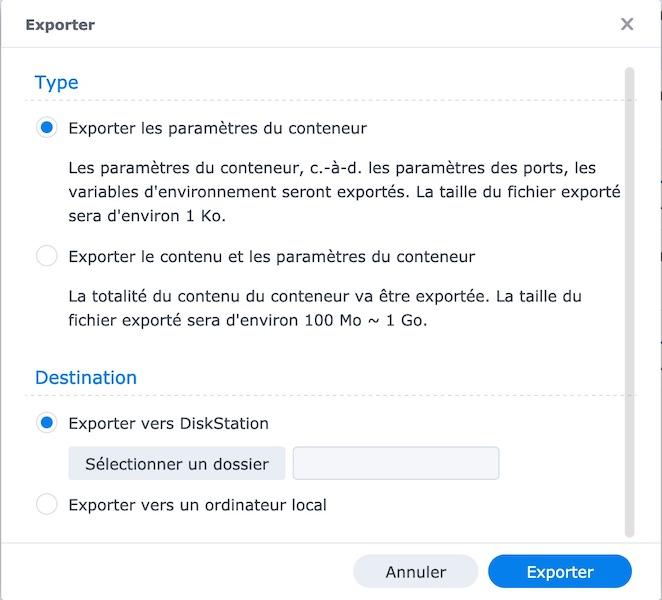 Container-Konfiguration exportieren - Vaultwarden ersetzt Bitwarden_RS (Docker / Synology)