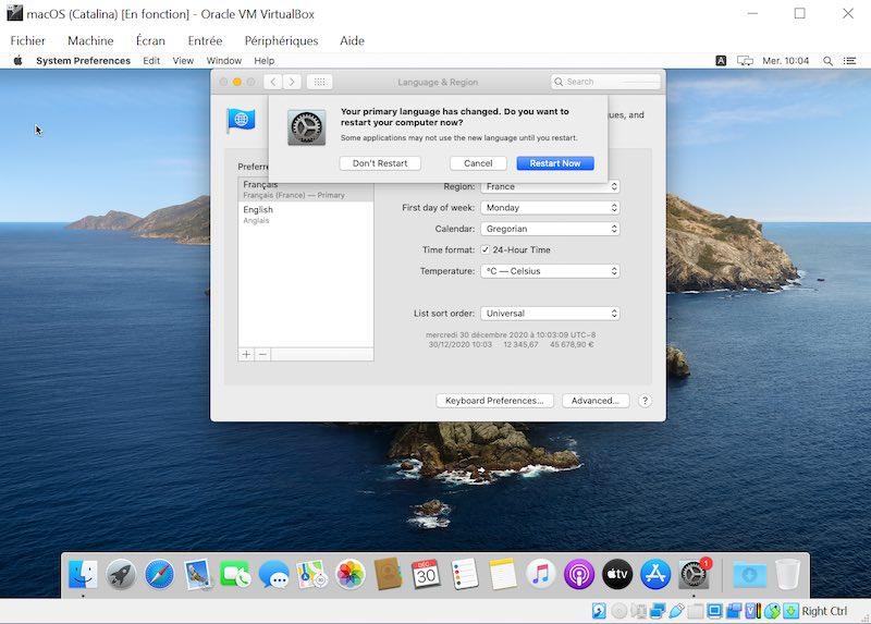 Sprache ändern 03 - VirtualBox - macOS Big Sur auf Ihrem Windows-PC