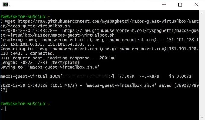 wget cygwin 2021 - VirtualBox - macOS Big Sur auf Ihrem Windows-PC