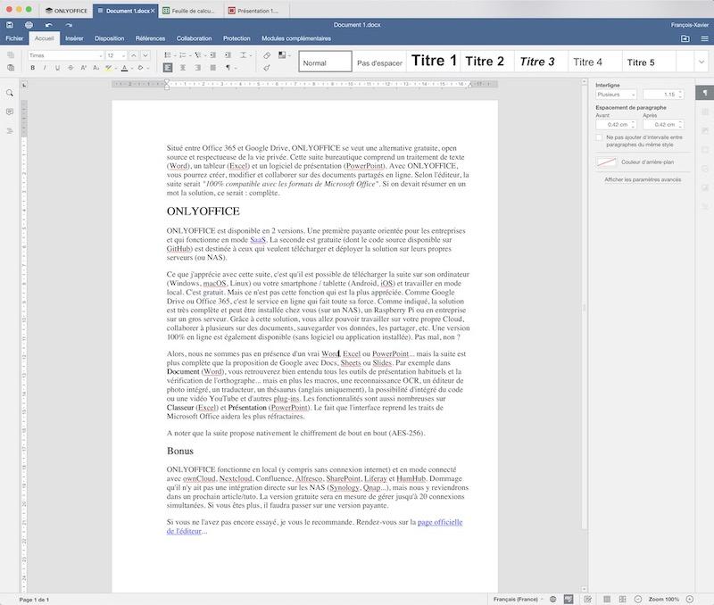 onlyoffice document - ONLYOFFICE, die kostenlose Office-Suite, über die alle reden