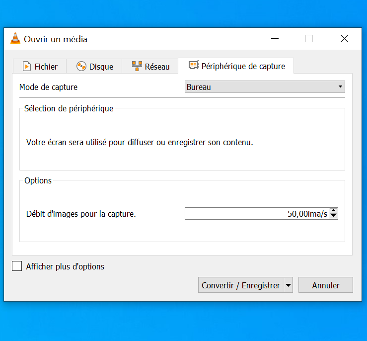CaptureVLC2 - Nehmen Sie Ihren Bildschirm (Desktop) mit VLC auf