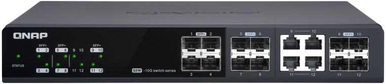 QNAP QSW M1204 4C 2020 - QNAP bringt 3 verwaltete Multi-Gig-Switches auf den Markt: QSW-M1204-4C, QSW-M1208-8C und QSW-M804-4C