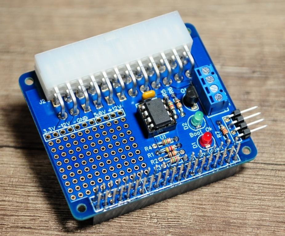 Rpi alim8 - Stromversorgung und Steuerung eines Raspberry Pi mit einem ATX-Netzteil