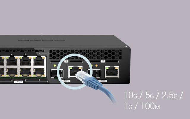 qsw m2108r 2c Kabel - QNAP QSW-M2108R-2C: Switch mit 8 2,5 Gbit/s Netzwerkbuchsen und 2 10 Gbit/s Buchsen