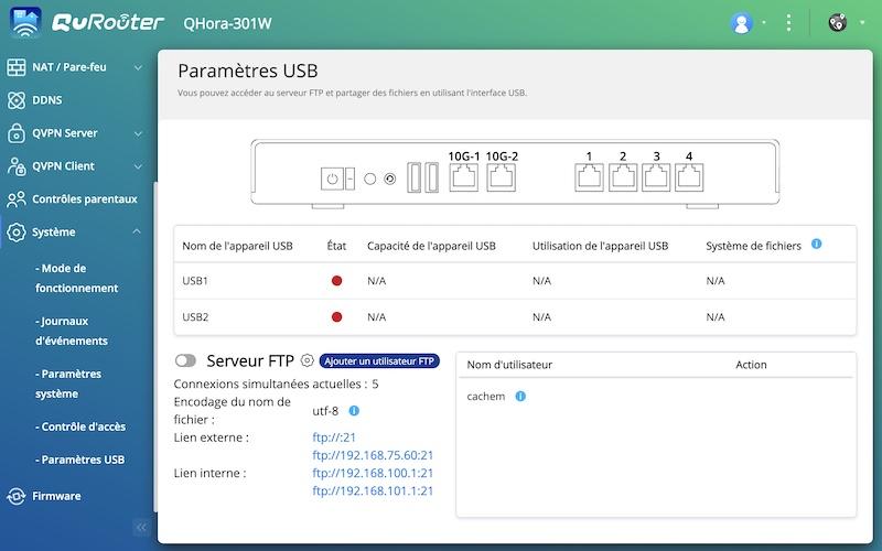 QuRouter USB - QNAP QHora-301W im Test: Wi-Fi 6, 2 x 10 GbE-Ports, SD-WAN