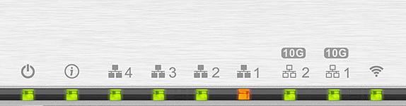QHora LED 2021 - QNAP QHora-301W im Test: Wi-Fi 6, 2 Ports 10 GbE, SD-WAN