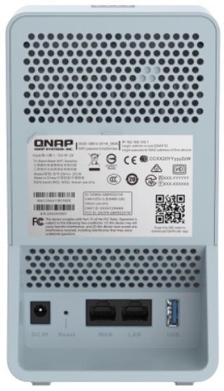 QMiro 201W Rückseite - QNAP QMiro-201W: Tri-Band-Mesh-Router, WiFi 5, SD-WAN
