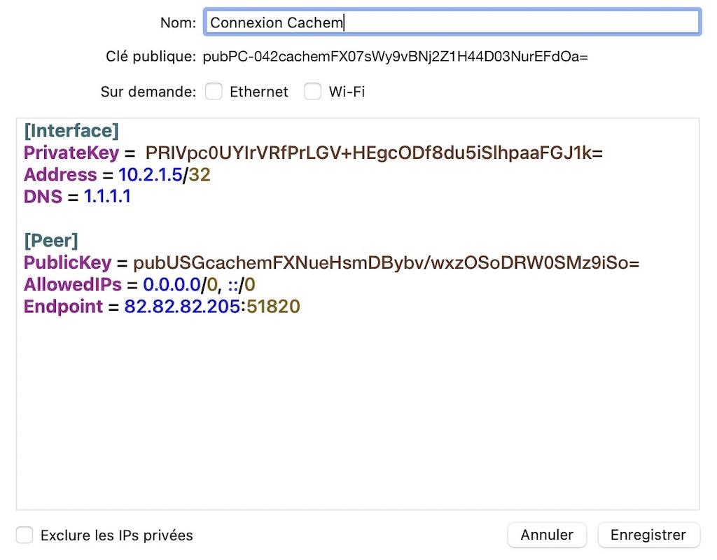 PC-Mac-Cachem-Verbindung - WireGuard auf UniFi / Ubiquiti