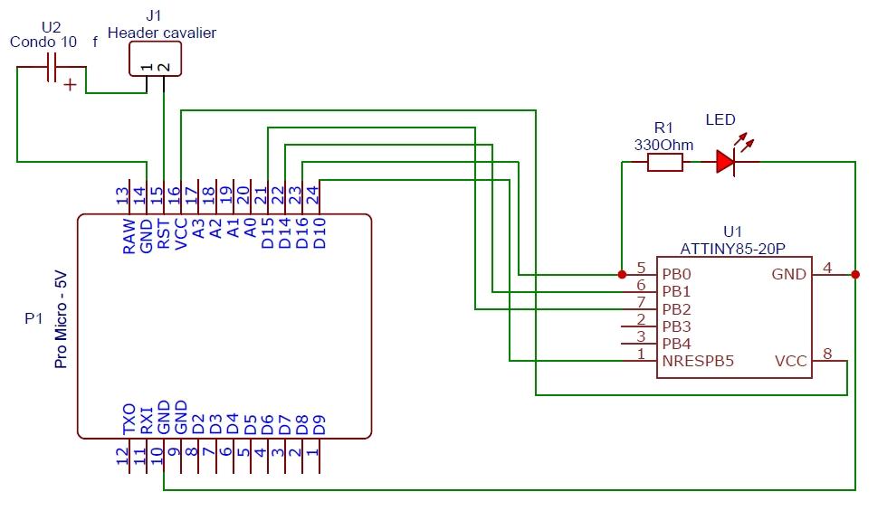 attiny85 3 - Erstellen Sie einen Programmierer für ATtiny 85