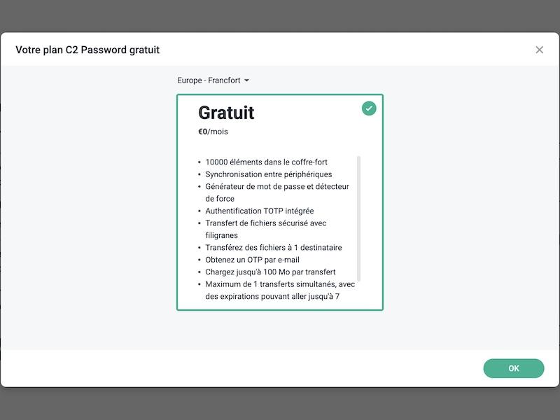 C2-Passwort-Plan - Synology C2-Passwort ist verfügbar