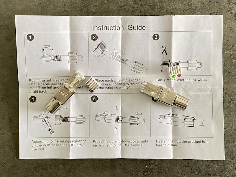 RJ45-Führungsstecker - Herstellen eines RJ45-Kabels ohne Werkzeug