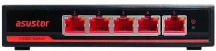 asw205t front - Asustor bringt den ASW205T Switch mit 5 2,5 Gb/s Ports auf den Markt