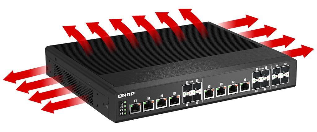 qsw im1200 8c lüfterlos - QNAP QSW-IM1200-8C: neuer voller 10 Gb/s Switch
